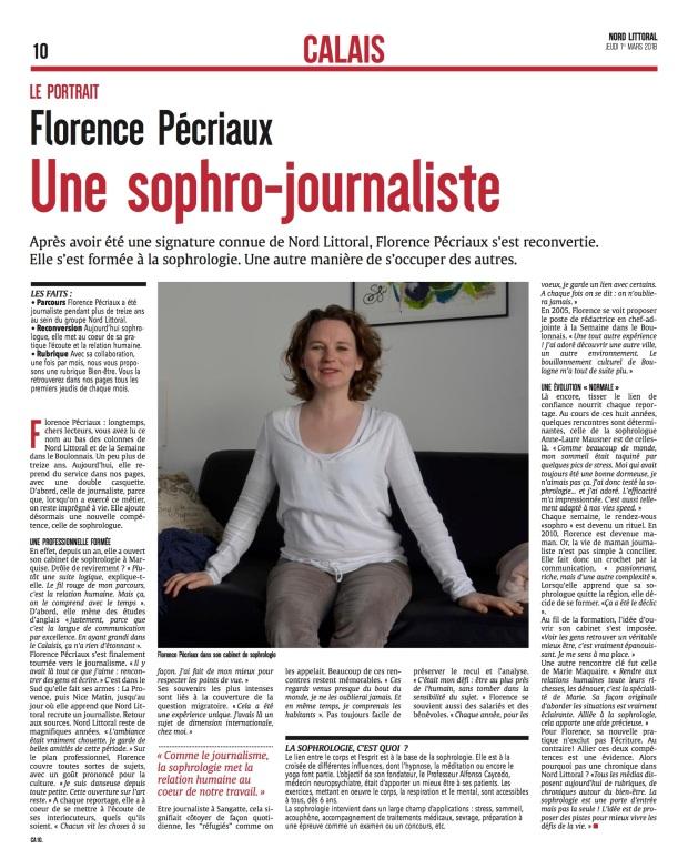 Portrait Florence Pécriaux sophrologue Nord Littoral